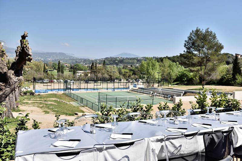 Restaurant tennis club Mouans Sartoux